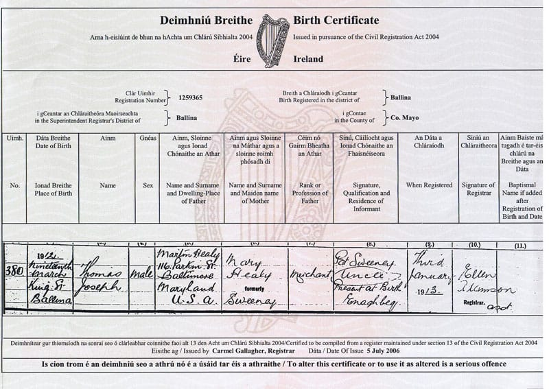 what does a 'long form' birth cert look like anyway? - boards.ie